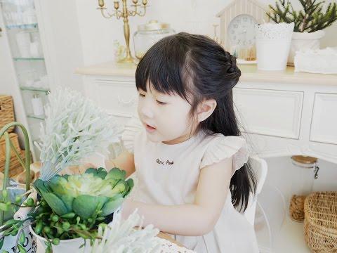 04 princee flower braids hair style สอนถักเปียดอกไม้ (Yuki 3.6y)