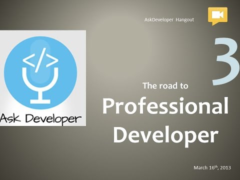 Egyptian Geeks Workshop 3 (The road to professional developer)