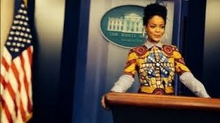 Rihanna's Weird White House Illuminati Ritual!