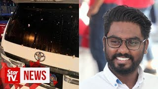 Batu MP Prabakaran's SUV pelted with eggs