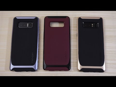 Download Youtube: Spigen Neo Hybrid and Liquid Air Case for Galaxy Note 8!