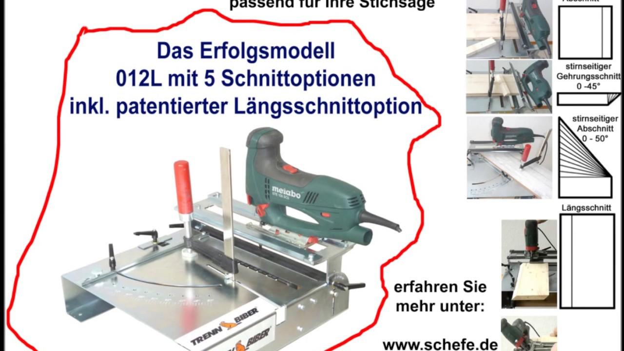 für treppensanierung, laminat verlegen - trenn-biber 012l sägetisch