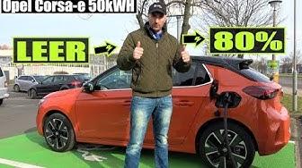 Opel Corsa-e: So schnell lädt er von LEER auf 80% + Ladekurve!