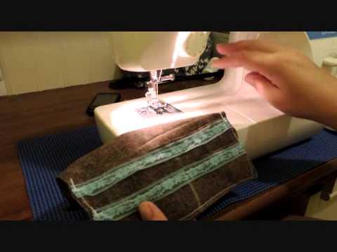 Lining Tunisian wallet tutorial