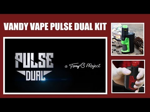 VANDY VAPE PULSE DUAL KIT- With Smallest Dual Battery Squonk Mod &3  Different Airflow Rings丨VAPORL