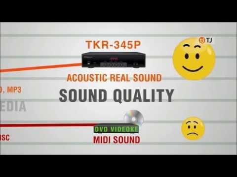 TKR-345P Comparison Chart Versus DVD Karaoke