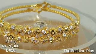 22 ct Gold Bangle  Bracelets   designs with WEIGHT and PRICE