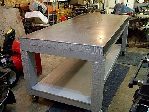 HOW I Made My SHOP TABLE For Small Engine Repair YouTube - Small metal work table