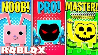 ROBLOX NOOB VS PRO VS MASTER! (ROBLOX PET SIMULATOR)