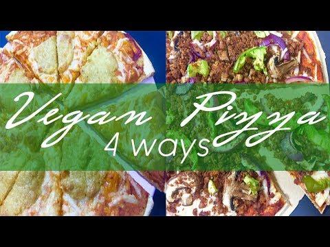 Vegan Pizza 4 Ways (+ vegan mozzarella!)