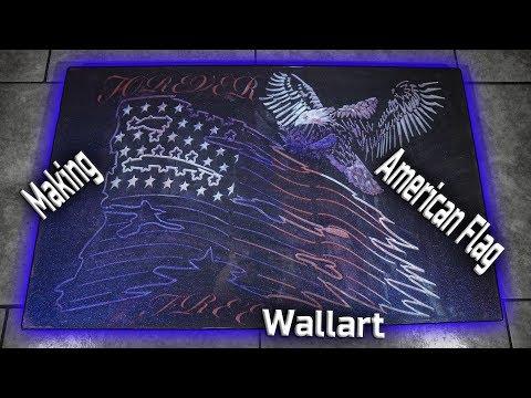 Making American Flag Wallart V2