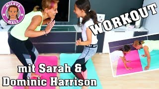 FITNESS Workout - Mutter Tochter - mit SARAH & DOMINIC HARRISON | Mileys Welt