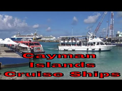 Watch 6 Cruise Ships Port in the Cayman Islands