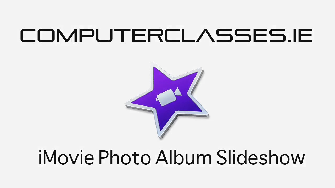 How to create a photo slideshow in iMovie tutorial - YouTube