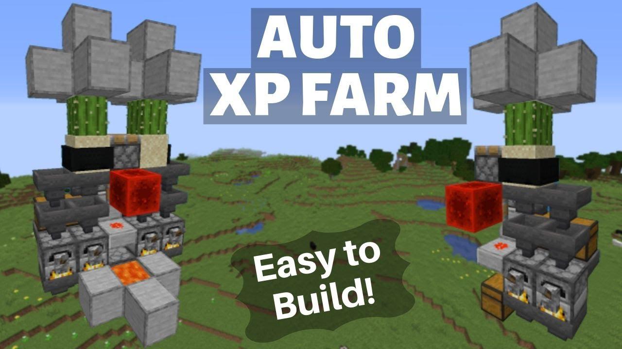 Tiny AUTO XP Farm/Bank - Minecraft Java 9.93-9.95+ EASY AFK XP