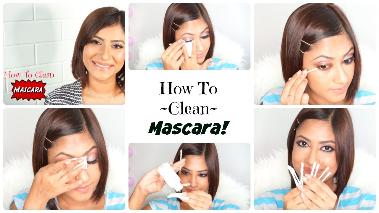 How to wash off mascara