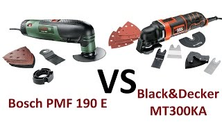 РоботунОбзор: Bosch PMF 190E vs Black&Decker MT300KA