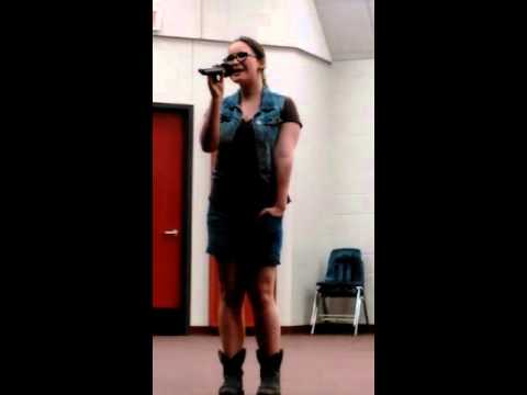 Shut up and fish sung by Sarah Thompson at Kellyville OK talent