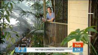 Grant Denyer In the Daintree and giving bungy a try. Thumbnail