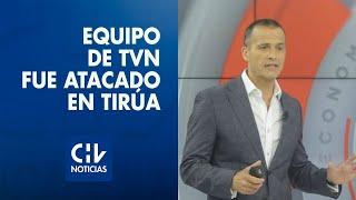 Iván Núñez y equipo de TVN fue baleado en Tirúa