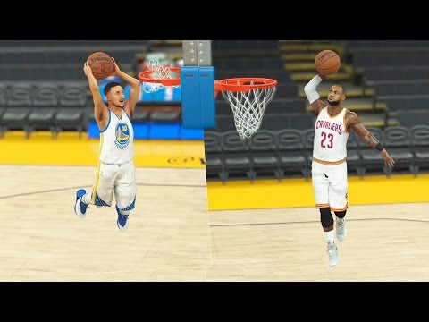 Can Midget Stephen Curry Beat Midget LeBron James In A Dunk Contest? NBA 2K17 Gameplay