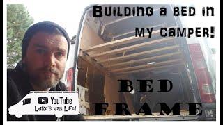 My van life! Project 2! Episode 3! Bed frame!