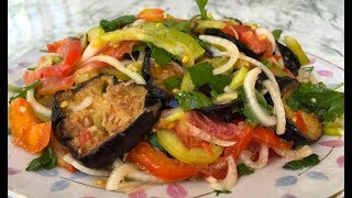 """Салат""""Баклажанчик""""(Ооочень Вкусно) / Салат из Баклажанов / Eggplant Salad Recipe / Простой Рецепт"""