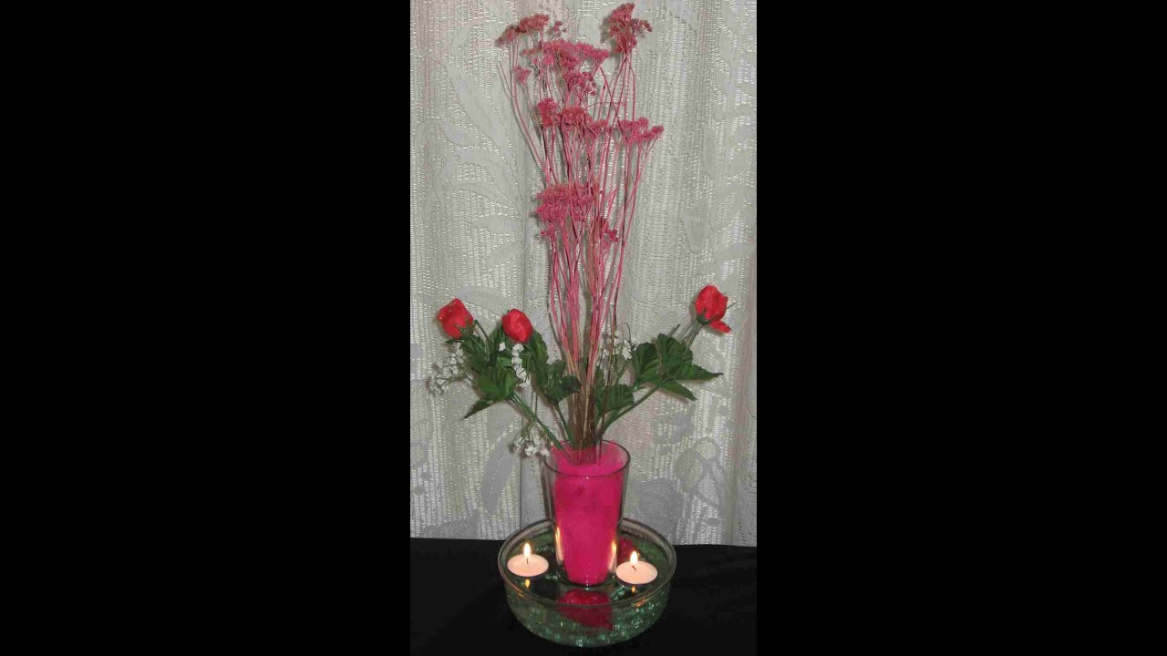 Centro de mesa con flores secas y artificiales youtube for Centros de mesa artificiales