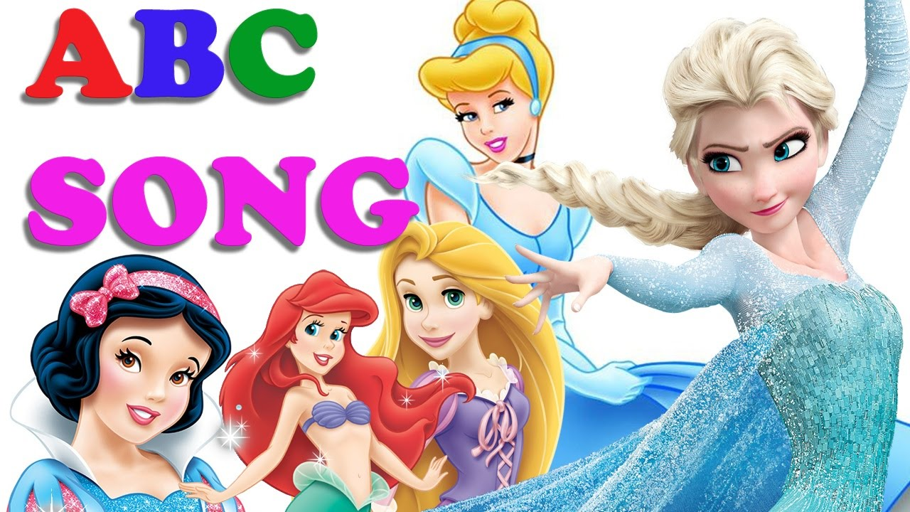 ABC SONG for Children With DISNEY Princess [Frozen ...