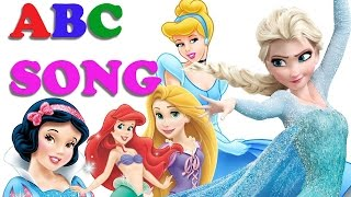 ABC SONG for Children With DISNEY Princess [Frozen] Alphabet Song