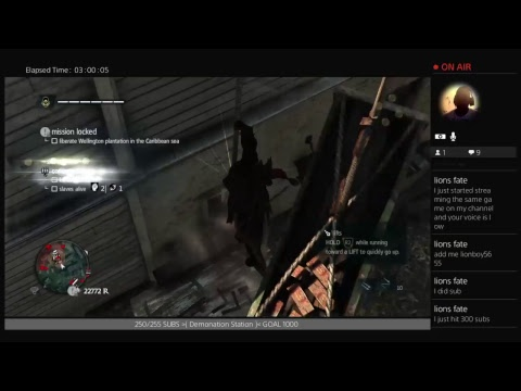 TOP LIVE STREAM Of Assassin Creed Freedom Cry #2 - 30 SEC. Chat Delay | Subs & Views Trending