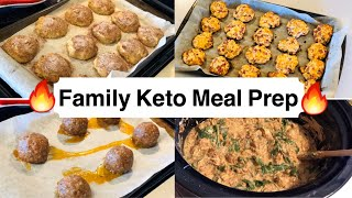Weekly Keto Family Meal Prep/Batch Cooking| Keto French toast cookies, Ham & Cheese bites, and more