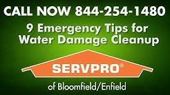Water Damage Cleanup 9 Emergency Tips SERVPRO | Flood Clean up Basement Flooding Storm Restoration