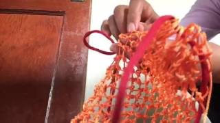 How to make a Choiseul, Solomon Islands string bag (Part2)