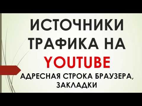 Источники трафика YouTube. Адресная строка браузера, закладки и неизвестные источники