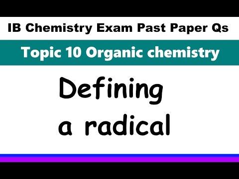 Defining a radical IB Chemistry Past Paper Exam Qs 2016 Specimen P2 SL HL Q2ai