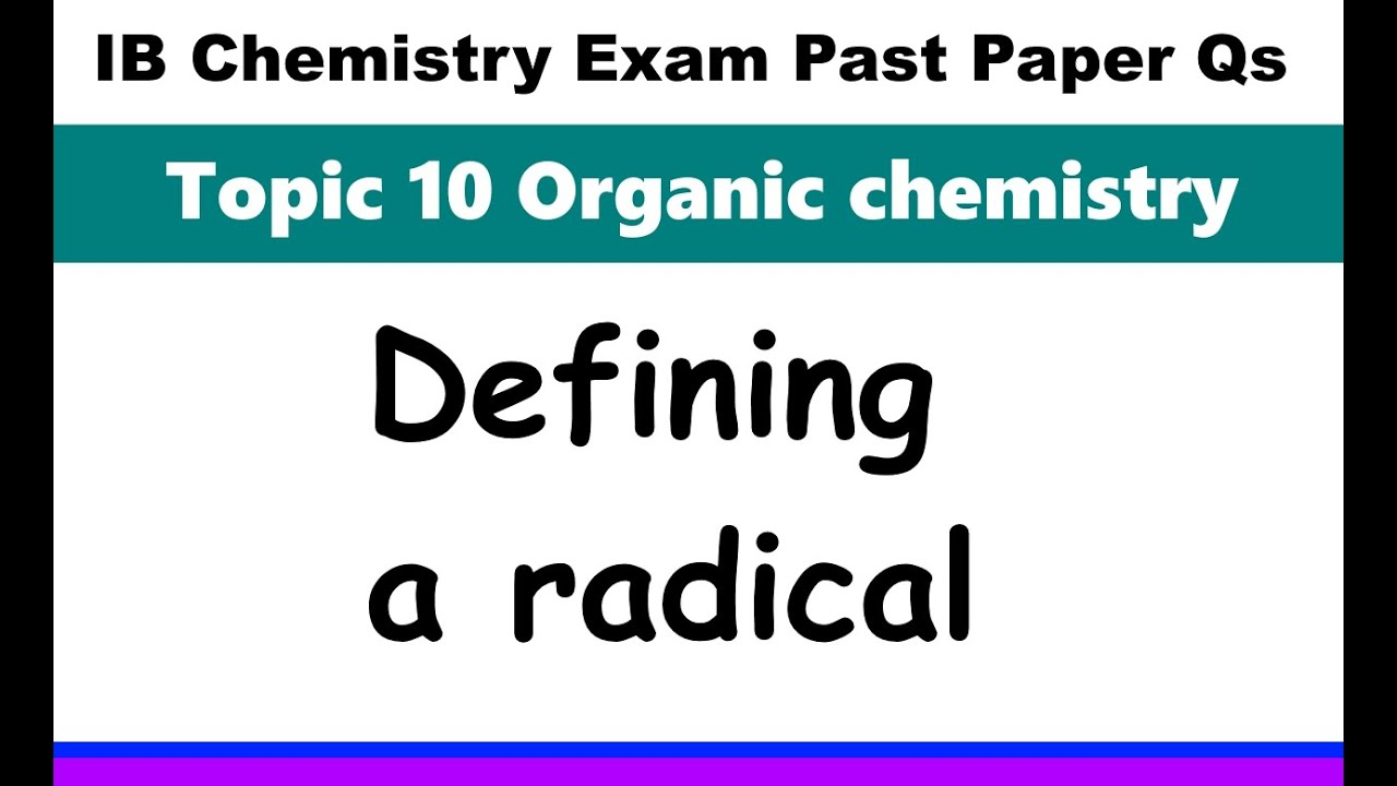 IB Chemistry Topic 10 Organic chemistry - MrWeng's IB Chemistry
