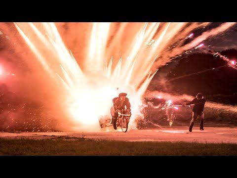 Download Youtube: 1000 ROCKETS Launched off a BIKE