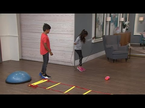 A simple family exercise circuit to keep your kids off their screens
