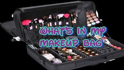 what is in my makeup bag ii my vanity bag ii new abayas ii kanwalsbeauty vanitybag vanitycase