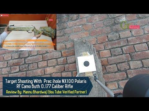 Target shooting with Precihole NX100 Polaris RF Camo Butt 0.177 caliber Air rifle | precihole NX 100