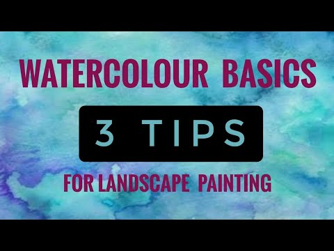 3 TIPS for Watercolour  Landscape Painting for Beginners