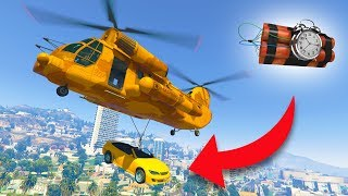GIVING PEOPLE CARS BUT THEY'RE ACTUALLY BOMBS! *CARGOBOB TROLLING!* | GTA 5 THUG LIFE #223