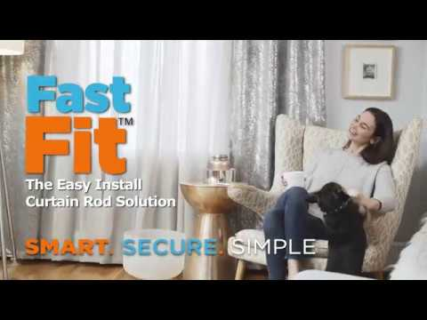 kenney fast fit the easy install curtain rod solution