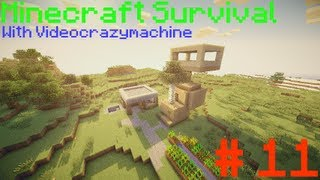 Minecraft Survival - Episode 11 - Creeper Hole Filling And House Extension (1080p)