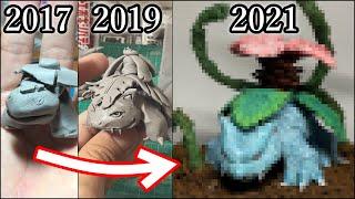 【粘土】2年ぶりにフシギバナのフィギュアを作った結果【Pokemon】