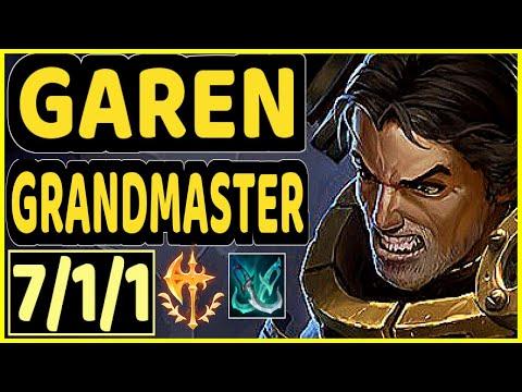 STROMPEST (GAREN) - 7/1/1 KDA GAMEPLAY - NA Ranked GRANDMASTER