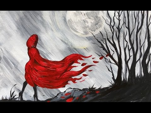 Little Red Riding Hood step by step Beginner Learn to Paint Acrylic