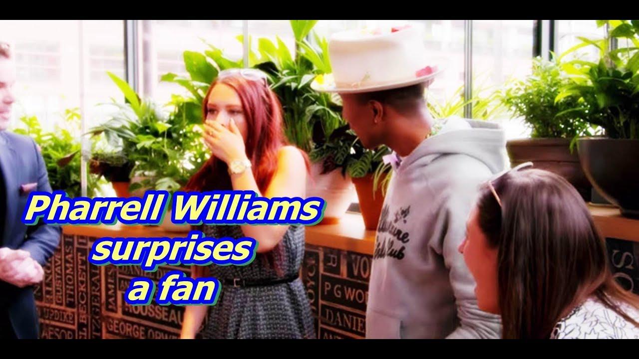 Pharrell Williams surprises a fan