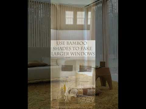 The Bamboo Curtain Panels For Your Windows Decorations